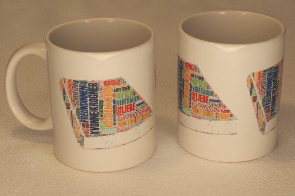 Keramiktasse im Yvonne Krogner-Design